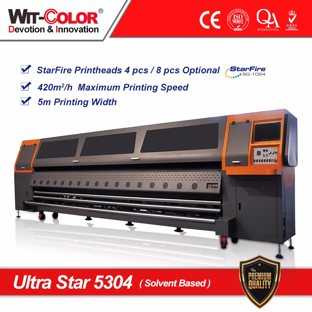 Heavy Duty Digital Printer Ultra Star 5304 5m Solvent Printing Machine