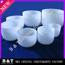 frosted crystal singing bowls CSB093