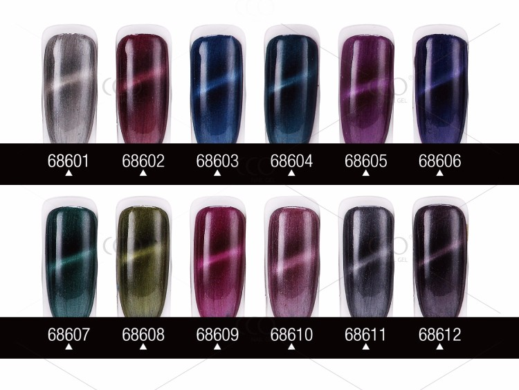 Newest Metal color Cat's eye nail gel polish UV gel Nail Polish