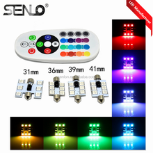 New Multi led interior car light colors changing RGB t10 c5w c3w c10w 31MM 36MM 39MM 41MM Dome Festoon 6smd 5050