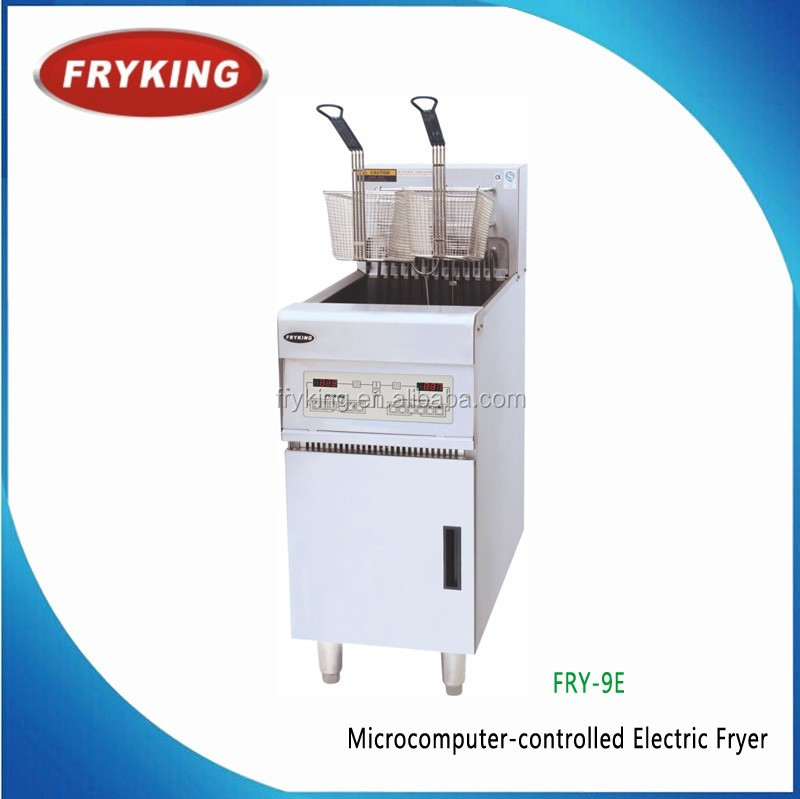 auto high power 9kw fryer with cabinet for restaurant