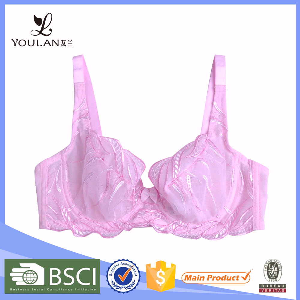 Factory Direct Sale Graceful Sexy Girl Spandex/Nylon Hot Sexy Ladies Nude Bra