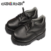 steel toe black leather cheap price safety shoe with comfortable design