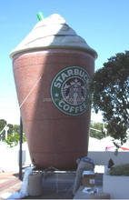 giant inflatable bottle Starbucks paper cup for coffee wholesale advertising display