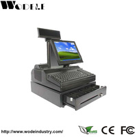cash register machine WD-9000E toy cash register with scanner cheap supermarket cash register