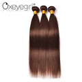 Fast shipping high quality color 4# 100% human brazilian virgin hair 7a