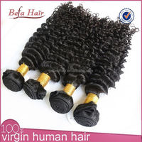 Best selling high quality 6A grade unprocessed natural jet black brazilian hair