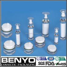 BENYO famous brand LUXURY cylindrical cream plastic jars/container for acrylic bottle