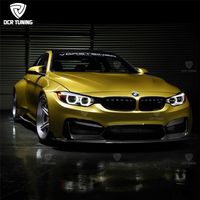 M4 Body Kit For BMW M4 F82 2014 2015 2016 2017 Wide BodyKit Fiber Glass Carbon Fiber Body Kit M4 F82