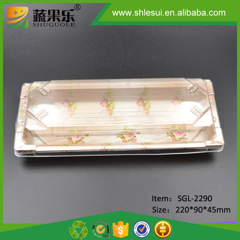 Food grade plastic takeaway food container sushi rice box
