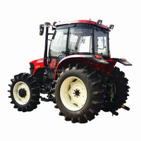 rice farming tractor with 100 hp diesel engine
