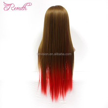 Top Quality Cheap Red Long Cosplay Straight Wig For Girl