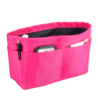 Solid Color Nylon Mesh Cosmetic Bag