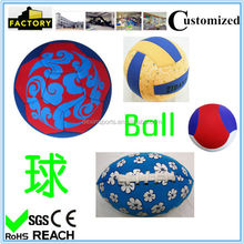 Machine stitched good quality neoprene soccer ball