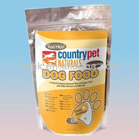 flexible printing stand up zip lock foil dog food bag