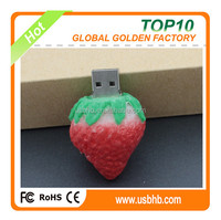 2015 new novel hight speed high quality full capacity popular cute strawberrry usb pendrives