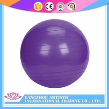 Promotional rubber bouncing purple yoga balance ball