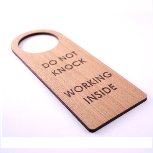 Laser Engraved Door Hanger Wood sign.Personalized door hanger