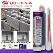 concrete structural chemical mortar anchor injection adhesives