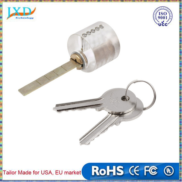 Professional lock picks T-Lock Visable Practice Padlocks Lock Pick Lock Training Trainer Pick for Locksmith with Two Keys