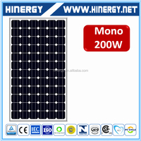 import solar panels from Alibaba China mono solar panel 200w prices
