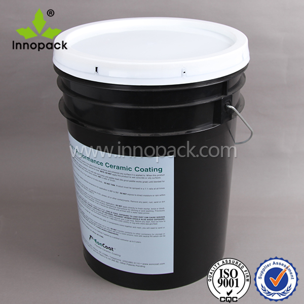 offset printing for 20 liter round plastic pail with gasket lid for sale