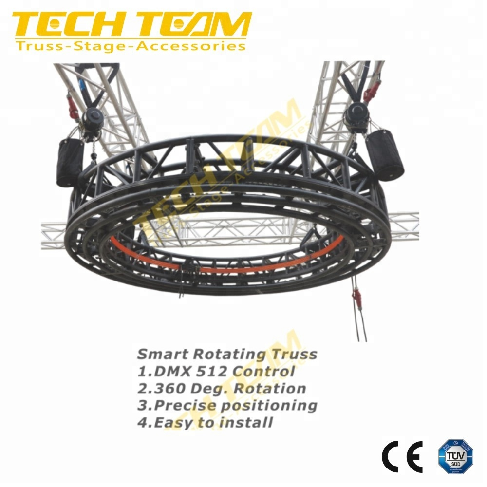DMX 512 Aluminum Rotating Lighting Circle Truss