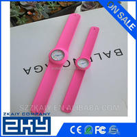 Promotion slap silicone kids wrist watch
