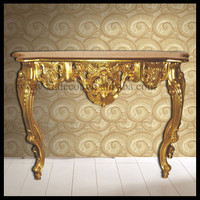 Versailles Gold Shabby Chic Console antique wood console tables
