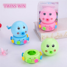 Korean High Quantity Cheap promotion custom Cartoon Colorful plastic animal pencil sharpener blade manual sharpeners