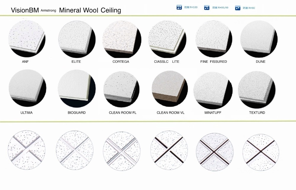 Ultima Vector Mineral Fiber Ceiling Panel Square Lay In