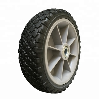 "8""x2.50-6 Solid PU Rubber Wheels For Self Propelled Mower"