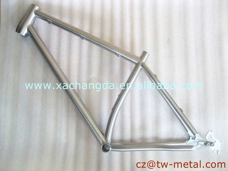 Customized titanium mountain bicycle frame Ti mtb bike frame with taper head tube & sliding dropouts