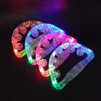 Party favor led flashing tambourine