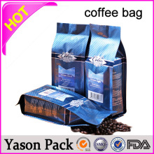 Yason coffee bag box pouch coffee bag in tin tie coffee bag packaging