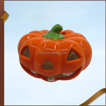 Ceramic halloween pumpkin light decorations, LED light pumpkin dolomite craft