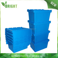 New Model turnover nestable logistic plastic crate with lid
