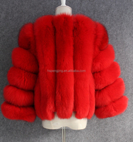 2016 wholesale real fox fur coat for ladys/fashion style