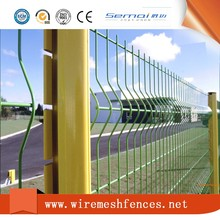 black welded wire fence mesh panel/ Outdoor Retractable Cyclone PVC Coated 3D Wire Mesh Fence