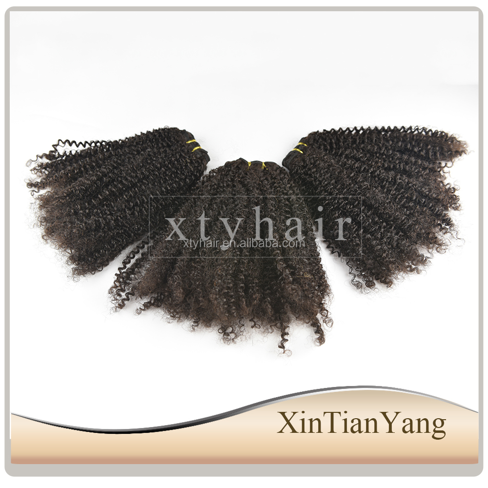 Alibaba express best selling products wholesale afro kinky human hair extensions for black women
