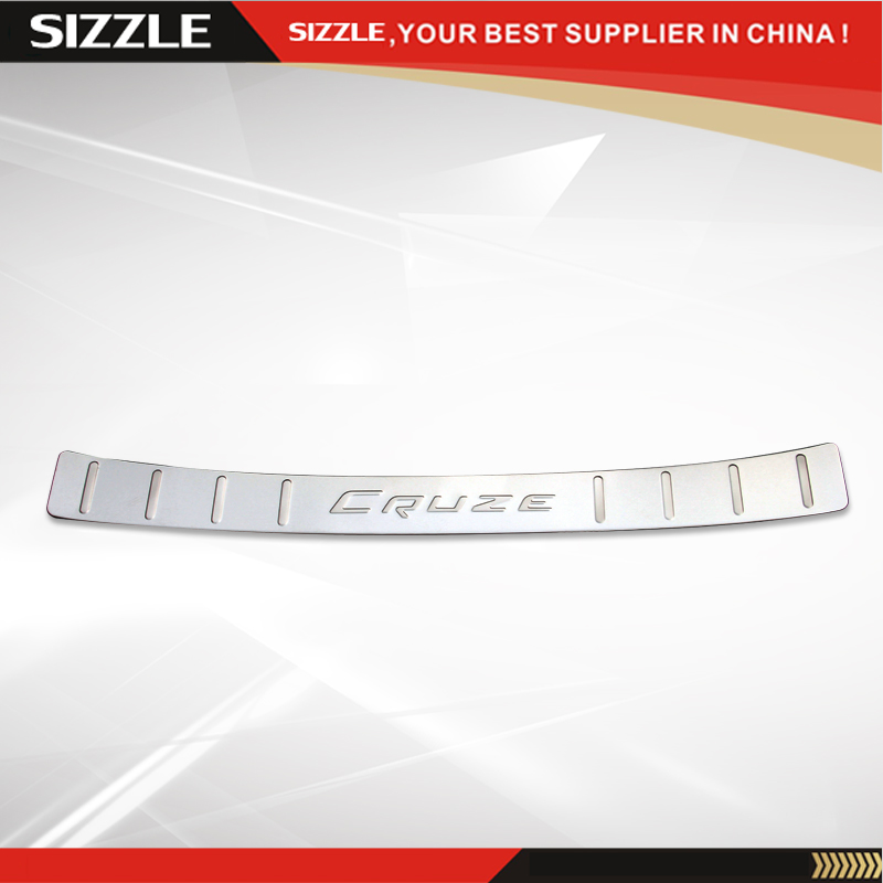Stainless Steel Rear Bumper Foot Plate For Chevrolet Cruze 2015