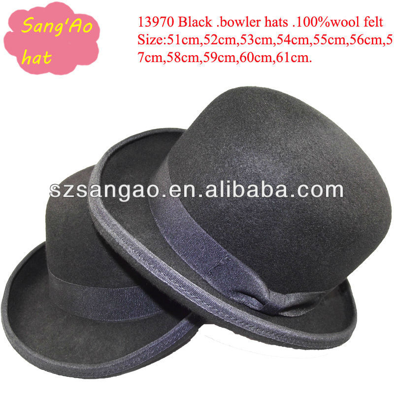 wholesale fashion black derby hat