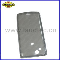 New Arrival Transparent Black Soft Skin TPU Gel Case with Round Circle Back Cover for Sony-Ericsson Xperia Arc LT15i X12