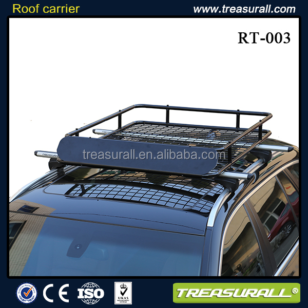 Treasural car accessory steel roof tray roof basket roof rack