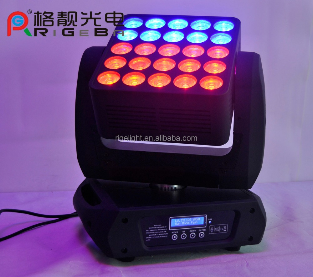 Disco light high power 25*12w 4in1 rgbw dmx Zoom Wash beam led moving head