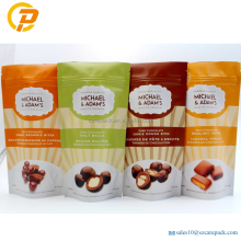 Plastic stand up chocolate package food packaging bag
