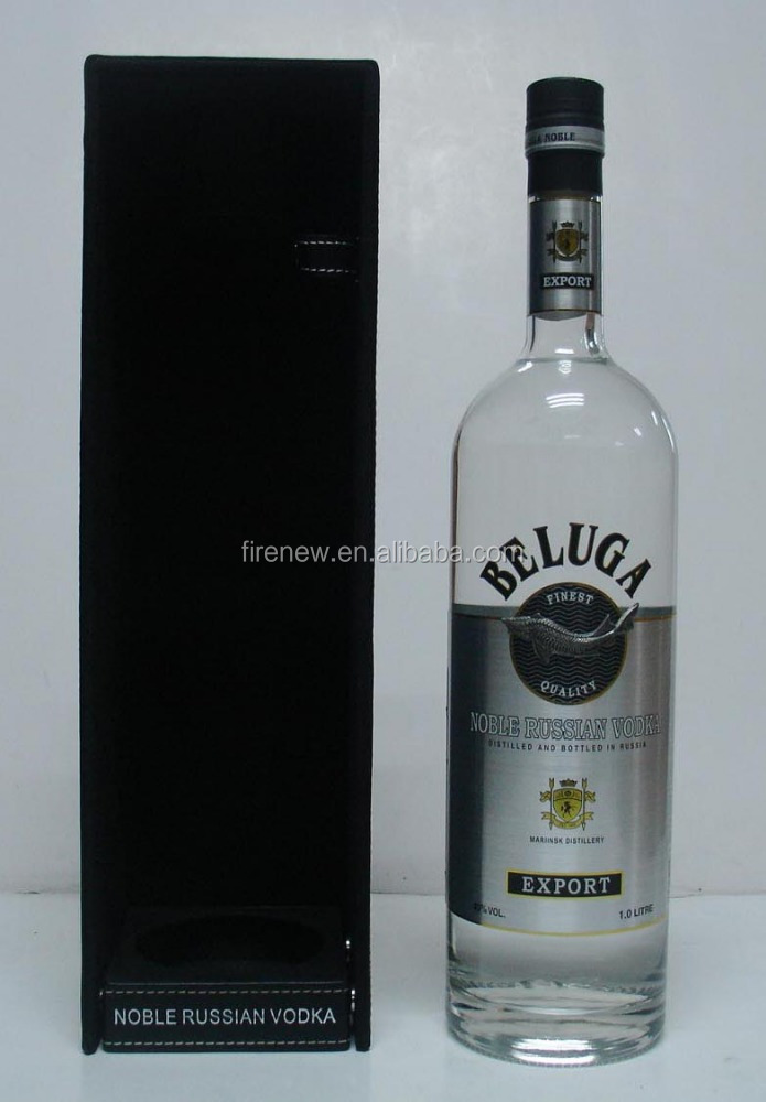 Single Black PU Leather VODKA BELUGA Gift Box