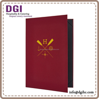 christmas new hot items for 2016 special offer high quality beautiful menu cover / embossed menu folder