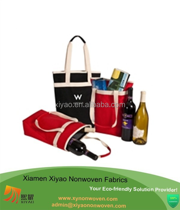 12 oz wholesale canvas wine tote bottle bag