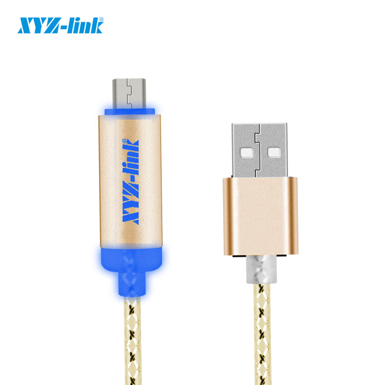 Top selling Glow led el usb phone charging cable for iphone android